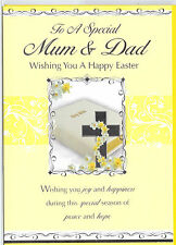 Mum & Dad Easter Card Available In Various Designs FREE P&P