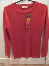 Tory Burch Adrienne Sweater in Carmine Melange Med.100% Authentic Guaranteed!