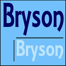 Bryson Wall Quote! 44x100cm Interior Home Transfer, Removable Boys Room Sticker