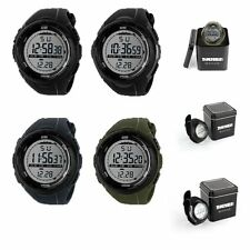 Fashion Mens LCD Digital Stopwatch Date Waterproof Rubber Sport Wrist Watch +Box