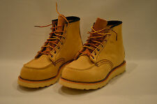 "Authentic Red Wing 6"" 8173 Sand Suede Moc Toe Beige Men's Work Boot NEW Solid"