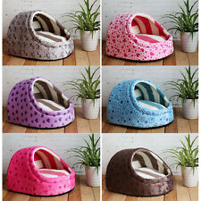 14 Candy Colors Pets Semi-enclosed Shape House Dog Cats Soft Kennel Bed CWb35