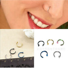 2pcs Stainless Steel Nose Open Hoop Ring Earring Body Piercing Studs Jewelry cbe