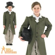 Regency Boy Costume Child Edwardian Victorian Boys Fancy Dress Oliver Twist