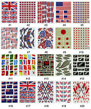#551S Nation Country Flags Teacher School Travel Crafts Scrapbooking Stickers