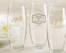 100 Personalized 9oz Stemless Champagne Glasses Bridal Anniversary Wedding Favor