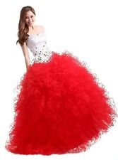 Newly Red Skirt and White Top Beading Charming Quinceanera Dresses Custom Made