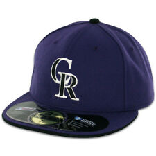 Colorado ROCKIES ALTERNATE 2 Purple New Era 59FIFTY Fitted Caps MLB OnField Hats