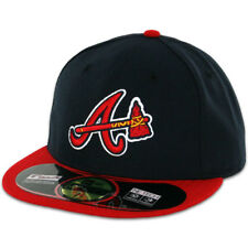 Atlanta BRAVES ALTERNATE Dark Navy New Era 59FIFTY Fitted Caps MLB On Field Hats