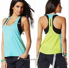 ZUMBA  Fitness 2 PIECE SET! FEEL THE MUSIC~Racerback  & DEFY GRAVITY BRA TOP S M
