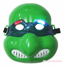 Turtle Black Mask Ninja Superhero LED LIGHT UP Mask Halloween Party Kids Costume