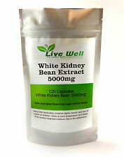 White Kidney Bean Extract 5000 mg Capsules, Weight loss Carb blocker