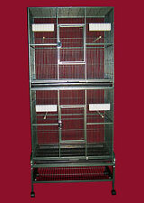 "Double Stacked Bird cage FOR COCKATIELS, PARAKEETS, FINCHES  32""x21""x74"""