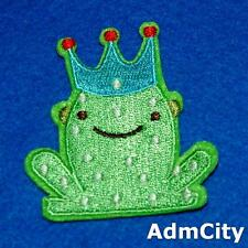 Frog Prince Boy Iron on Patch Cartoon Embroidered Iron on Patch Badge Applique