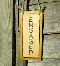 VACANT ENGAGED hanging WOOD Rustic reversible loo toilet sign - choice of colour