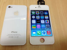 Replacement Original display lcd screen back glass for iPhone 4 4S White Black