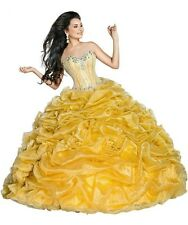 Luxury Gold Beading Sweetheart Ball Gown High End Quinceanera Dresses Custom