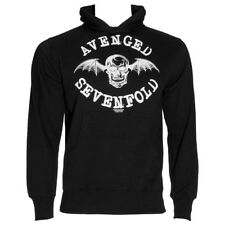 Official Avenged Sevenfold A7X Unisex Black Logo Hoodie ALL SIZES - Band Merch