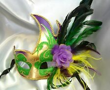 Ostrich feather flower Swan Venetian Masquerade Eye Mask Costume Prom Party mask
