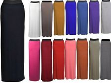 NEW WOMENS GYPSY LONG JERSEY MAXI DRESS SKIRT LADIES PLAIN LONG SKIRT SIZE 8-14