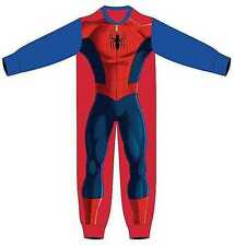 Boys Kids  Offical Spiderman  Superhero Fleece All In One Onezee.fast post
