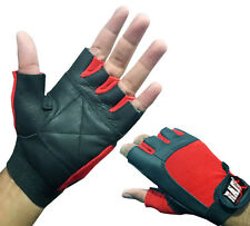 RAD Leather Weight Lifting Gloves Gym Fitness Exercise Body Building M-XXL Red