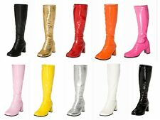 Womens Ladies Knee High Boots - Fun GoGo Boots -  Sizes 3 - 10 UK