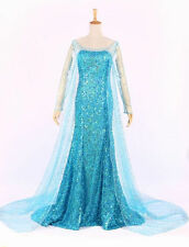 ADULT FROZEN STYLE PRINCESS ELSA  DRESS PARTY FANCY COSTUME