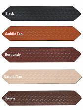 "New Barsony 1 1/2"" (1.5"") Basketweave Leather Belts for Sizes 54"" - 62"""