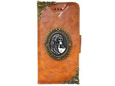 Vintage Skull Lady Leather Case Cover For Samsung Galaxy S4 S5 Note 2 3 4 A4 NAB