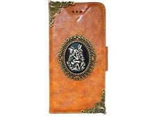 Vintage Skull Lady Leather Case Cover For Samsung Galaxy S4 S5 Note 2 3 4 A5 NAB
