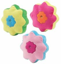 Grriggles Spring Garden Collection Flower Dog Toy Squeaker Bright Colors Soft