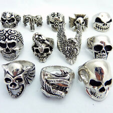 MENS GOTHIC RINGS, SKULL, BIKER, PIRATE, HEAD - choose from over 10 styles