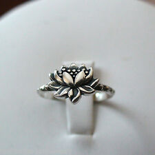 Lotus Ring - 925 Sterling Silver - NEW Lotus Flower Jewelry Symbol Namaste Yoga