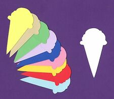 "Ice Cream Cone Die Cuts - 3-1/2"" tall - 10 pcs or 20 pcs - Any color(s)"