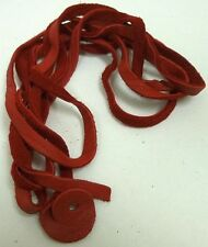 """Genuine Deer Lace Leather Strips 30"""" 70"""" All Colors Authentic Lacing Suede Craft"""
