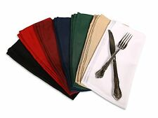 """Cloth Table Napkin 100% Polyester 20"""" X 20"""" - Sold By Dozen"""