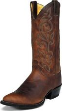 Justin Men's Traditional Cowboy Western Boots Bay Apache Leather Wide 2253