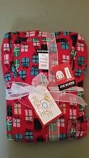 NEW Joe Boxer Women's 2pc Flannel Pajama/Sleepwear Set~Presents Print