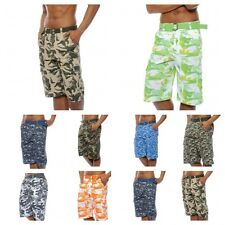 mens Cargo shorts camo cargo  short pants 100% Cotton 20 colors Size 32 - 42