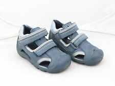 Baby Boys Elefanten Blue Leather Double Velcro Strap Summer Sandals Sizes 4 to 6