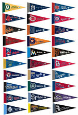 "MLB Baseball Team Logo Felt Mini Pennants 9"" x 4"" Brand New"