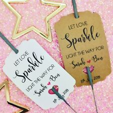 Personalised Sparkler Covers For Wedding  Favour Gift Tag