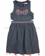 Deux par Deux Girls Dress with Openings Tropical Punch, Sizes 5, 6, 7, 8, 10, 12