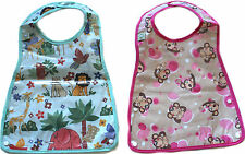 Brand new waterproof baby infants kids bibs with catching bowl design