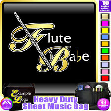 Flute Babe - Sheet Music & Accessories Personalised Bag by MusicaliTee