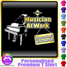 Piano Dont Wake Me - Personalised Music T Shirt 5yrs - 6XL by MusicaliTee
