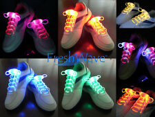 Cool Light Up Shoe Laces Glow Stick LED Shoes Shoelaces Dark Wedding Party DISCO