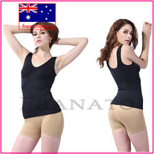 Bustier Women's Stretch Bodysuit Top  TANK TOP Vest Camisole Cami V-neck Smooth