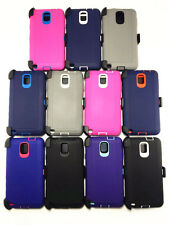 for Samsung Galaxy Note3 heavy duty defender case w/Belt Clip&screen protector